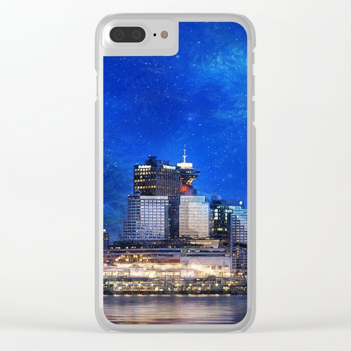 Canada At Night Clear iPhone Case