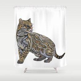 Ocelot Shower Curtain