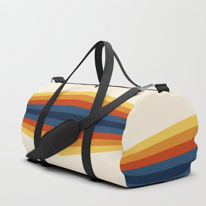 Bright 70's Retro Stripes Reflection Duffle Bag