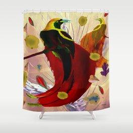 The Bird of Paradise  Shower Curtain