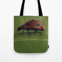 Ladybird on a Flower, macro photography, home, still life, fine art, animal love, nature photo Tote Bag
