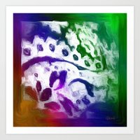 lace Art Prints featuring Lace by Geni