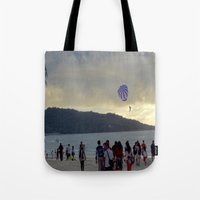 thailand Tote Bags featuring Thailand Sunset by ENGINEMAN - JOSEPHAMT