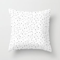 Constellations (White) Throw Pillow