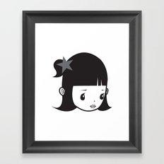 LUCY PIERROT Framed Art Print