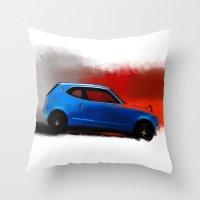 honda Throw Pillows featuring Honda Z by Vadim Artemyev