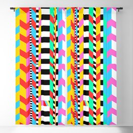 Crazy 90s Sweater Recreation Blackout Curtain