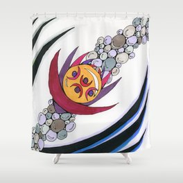 Bubble Sword Shower Curtain