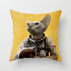 Proud astronaut Throw Pillow