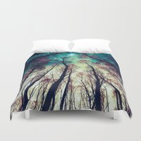 nordic Duvet Covers featuring NORDIC LIGHTS by RIZA PEKER