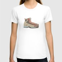 hiking T-shirts featuring Hiking Boot 2 by Yellow Chair Design