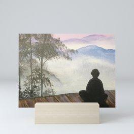 Contemplative meditation Mini Art Print