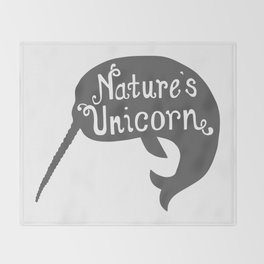 Narwhal Nature's Unicorn Throw Blanket