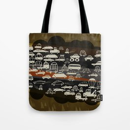 automobiles in a jam Tote Bag