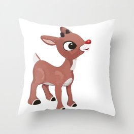 Classic Rudolph Throw Pillow