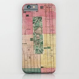 New York Vintage Maps And Drawings iPhone Case