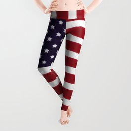 American flag - painterly treatment Leggings