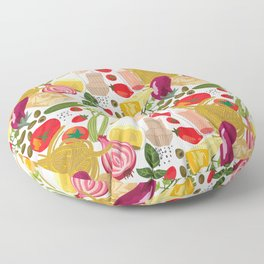 Fresh Italian Market Food Floor Pillow