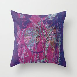 Madness sinks even the strongest angel Throw Pillow