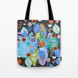Midnight joyful inflorescence Tote Bag
