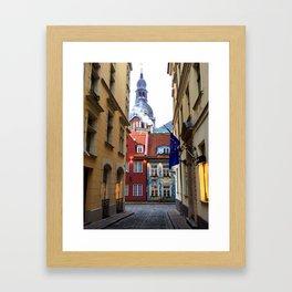The Streets of Riga Framed Art Print