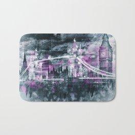Modern-Art LONDON Tower Bridge & Big Ben Composing Bath Mat