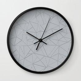 Ab Linea Grey Wall Clock