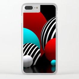 geometric horizons -4- Clear iPhone Case