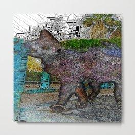 Street Cat X Metal Print