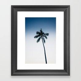 palm tree ver.navy Framed Art Print
