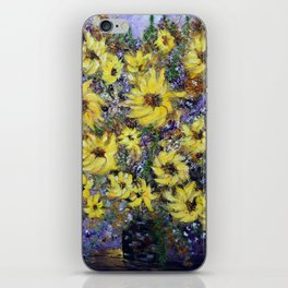 Misty Autumn Sunflowers iPhone Skin