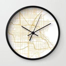LAS VEGAS NEVADA CITY STREET MAP ART Wall Clock