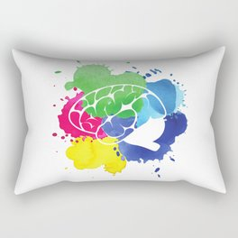 School Psychologist with Brain Rectangular Pillow