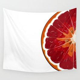 Orange print Wall Tapestry