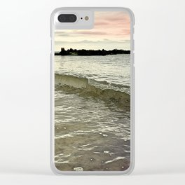 Sunset Crashing Clear iPhone Case