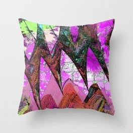 Mystical Magenta Magic Garden Throw Pillow