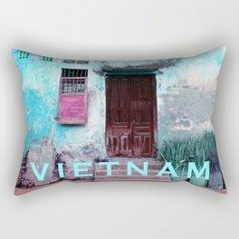 ANTIQUE CHINESE SOUND of HOI AN in VIETNAM Rectangular Pillow