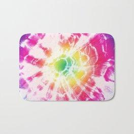 Tie-Dye Sunburst Rainbow Bath Mat