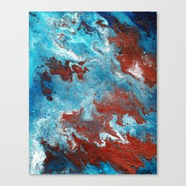 Fantasy in Copper and Blue Canvas Print