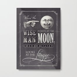 The Wise Man and The Fool Metal Print