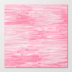 Chic Pink Watercolor Abstract Canvas Print