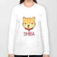 shiba inu Long Sleeve T-shirts featuring SHIBA INU LOVE by giaj