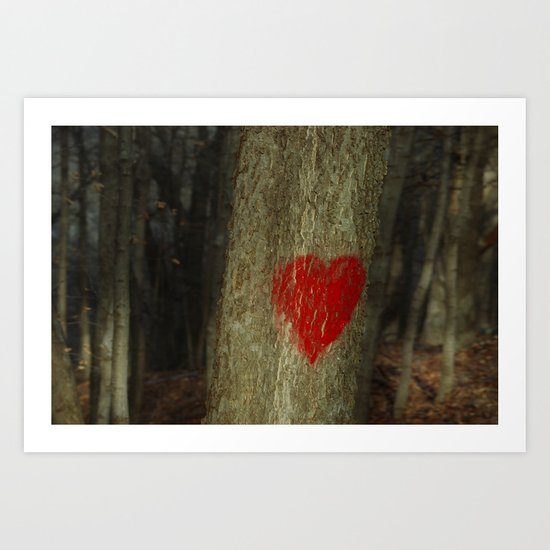 in the heart of the forest Art Print