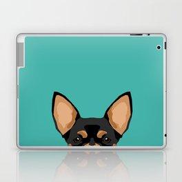 Chihuahua dog head pet portrait cute pet art chiwawas dog breed pure breeds Laptop & iPad Skin