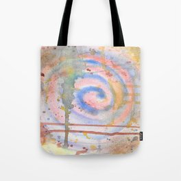 Abstract Spiral Watercolor Splash painting Tote Bag
