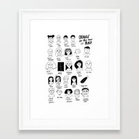 oitnb Framed Art Prints featuring oitnb by Caleb Boyles