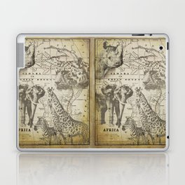 Out of Africa vintage wildlife art Laptop & iPad Skin