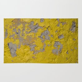 Yellow Peeling Paint on Concrete 1 Rug