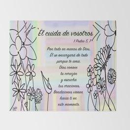 Flores - 1 Pedro 5, 7 Throw Blanket