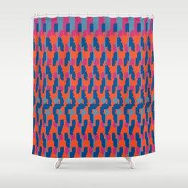 Pantone Wavy Flame Stripes Shower Curtain